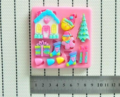 """Forma dekoravimo masei """"Kalėdų namelis"""""""