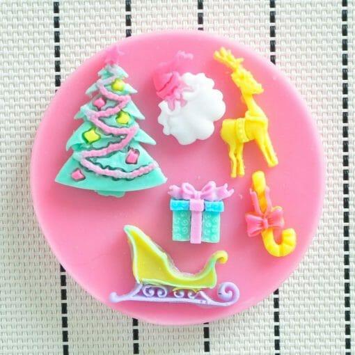 """Forma dekoravimo masei """"Kalėdų rogės"""""""