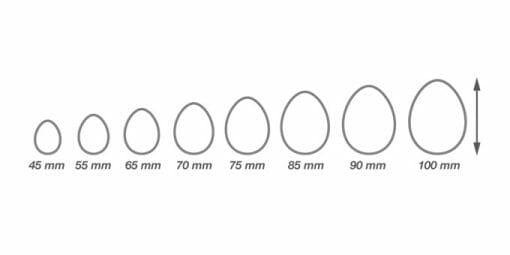 """Dvipusių sausainių formelių rinkinys """"Kiaušinis"""" (8 dydžiai)"""